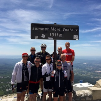 We all made it to the top of Ventoux - Fathers day
