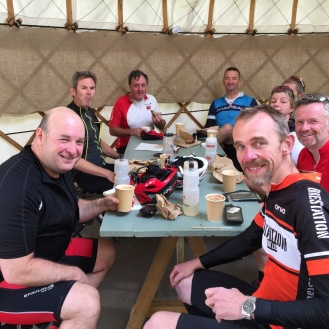 Cycling Badmington and the Yurt